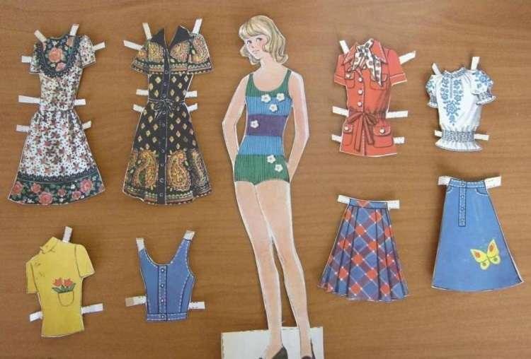 Кто помнит бумажные куклы из журналов 1960-1980-х годов?